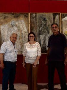 La prof. Castiglione al centro con Enzo Brai e Manlio Geraci